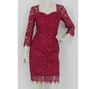 Paper Dolls Lace Dress Berry Red Size: 8