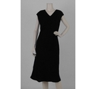 Patsy Seddon Phase Eight Woollen Spotted A Line Dress Black Size: 14