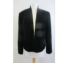 Laura Ashley Silk blend velvet jacket Black Size: 36
