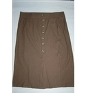 M&S Marks & Spencer Soft Stretchy Button Skirt Moss Green Size: 22