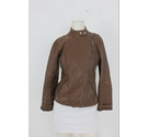 Michael Kors Leather Jacket Brown Size: XS