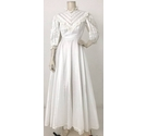 Unbranded Lace Panelled Wedding Dress White Size: S