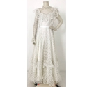 Unbranded Lace Wedding Dress With Train White Size: S