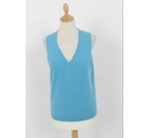 Brora Knitted Cashmere Top Duck Egg Blue Size: 12