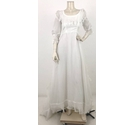 Ellis Pouf Sleeved Wedding Dress White Size: XS
