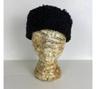 Vintage Fluffy Hat Black One Size
