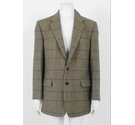 Magee Pure New Wool Blazer Beige Checked Size: XL