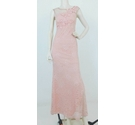 Unbranded Lace Embellished Long Dress Pink Size: S