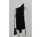 Upcycled Asymmetric Velvet Dress Dark Green Size: XS