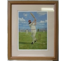 "Framed Cricket Print of W.G. Grace - ""The Hundreth 100"" by Craig Campbell"