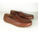 M&S Collection Leather Loafers Brown Size: 10