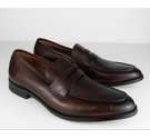 M&S Collection Leather Penny Loafers Chestnut Brown Size: 7