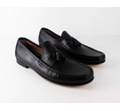M&S Collection Luxury Tasselled Loafers Black Size: 10