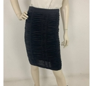 Burberry Elasticated Ruched Midi Skirt Black Size: 8