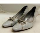 Van Dal Court Shoes Silver Size: 7.5