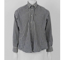 Barbour Gingham Checked Flannel Shirt Black & White Size: L
