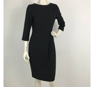 Jaeger Dress with Wrap Over Chest Black Size: 10
