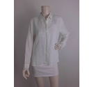NWOT Marks & Spencer Linen Long Sleeve Blouse White Size: 16