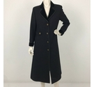 Mansfield Long Line Contrast Collar Coat Black Size: M