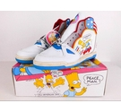 The Simpsons Bart Boots 1991 Trainers Red & Blue Size: 3