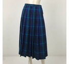 Jaeger Mid Legnth Pleated Skirt Blue Size: 12
