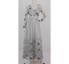 BNWT Chi Chi London Evening dress Palest Grey Size: 6