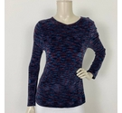 Laura Ashley Long Sleeved Top Purple Mix Size: M