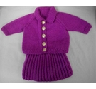 Hand Made - Pink knitted Dolls Clothes