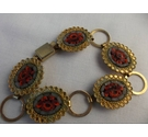 Unbranded Gold And Red Enamel Circa 1970's Bracelet