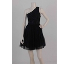Julien Macdonald Asymmetric Embellished Dress Black Size: 6