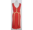 Marc Jacobs racer back dress red mix Size: M