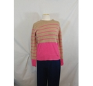 M&S - Jumper - Brown & Pink - Size: 10