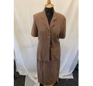 Sam Well Skirt and Jacket Brown Size: M