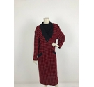 Christian Dior Wool Blend Checked Dress Black & Red Size: 14