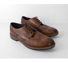 NWOT Marks & Spencer Leather Classic Brogues Brown Size: 12