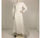Unbranded Empire Waist Wedding Dress White Size: XS