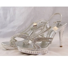 P&P Diamante Sandals Silver Size: 4.5