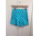 Lindy Bop Mint Green Polka Dot Shorts Green Size: XS