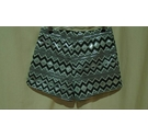 Glamorous BNWT Metallic Patterned Shorts Black & Silver Size: M
