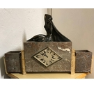 Granite Art Deco Clock With Bronze Figure & Matching Stands - Collection Only from Highgate