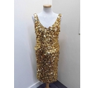 Karen Millen 2 piece outfit - top and skirt gold Size: 10