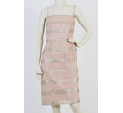 Phase Eight Textured Sequin Straight Dress Blush Size: 16