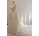 Rackhams vintage cream wedding dress with veil and headdress