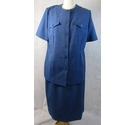 Eastex 2 piece summer suit blue Size: 16