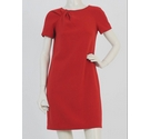 Michael Kors Pleated Box Style Dress Red Size: 6