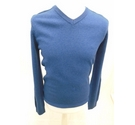 M&S Collection Extra Fine Lambswood Jumper Blue Size: S