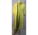 Hand made Asian style dress trousers and yellow Size: S