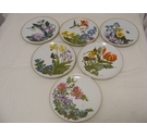 Flowers Of The American Wilderness Porcelain Plate Collection, 12 Plates, Franklin Porcelain