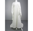 Lovely 70's Inspired White Wedding Gown Size M With Flared Sleeves And Love Heart Trimming