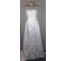 Alfred Angelo size 16 white A-line wedding dress with train
